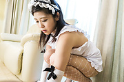 Top POV sex with a sexy Japanese maid on fire Photo 4