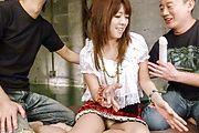 Asian anal in threesome with sensualMiyu Aoi Photo 2