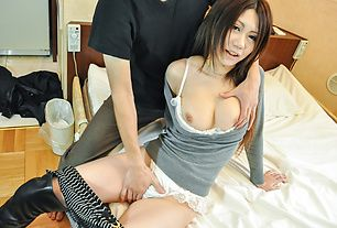 Miyu Ninomiya with huge asian tits creampied