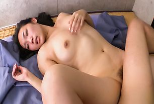 Babe with sexy Japanese tits hardcore experience