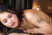 The gorgeous Maria Ozawa sucks cock in asian POV Photo 5