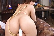 Ririsu Ayaka's asian pussy drips after being fucked with toys Photo 6