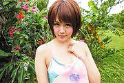 Fantasy Asian outdoor sex with petite Saya Tachibana Photo 1