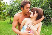 Fantasy Asian outdoor sex with petite Saya Tachibana Photo 4