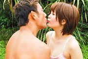 Fantasy Asian outdoor sex with petite Saya Tachibana Photo 6