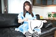 Sexy POV Asian porn for naked Sakura Nozomi Photo 4