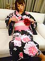Marika Removes Her Kimono To Get Kinky And Get Off Photo 1