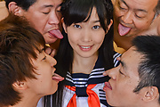 Babe in Japanese stockings fucked at school Photo 5