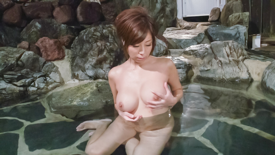 Milf with perfect Asian tits solo masturbation spectacle