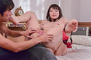 Japan milf removes undies to fuck with two guys Photo 7