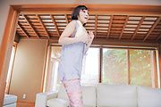 Brunette Uika Hoshikawa gets big cock in her Asian pussy Photo 1