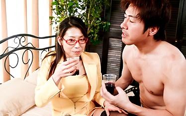 Mizuki Ogawa cock-stuffed with her lovers cock in her twat