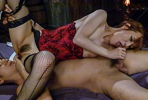 Babe in sexy Japanese stockings gets fucked right