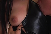 Japanese in sexy stockings, nice hard sex and creampie Photo 5