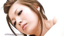 Mari Sasaki-Busty amateur teen in sexy lingerie Mari Sasaki gives a handjob Picture 4