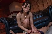 Sexy Japanese lingerie model tries cocks in her mouth Photo 1