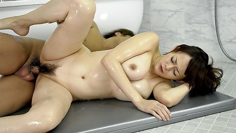 Rina Wakamiya with hot ass and huge tits gets fucked
