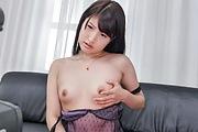 Steamy pleasures forSaki Kobashi's shaved pussy Photo 7