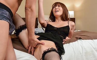 Miku Ohashi enjoys her first time creampie Asian end