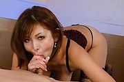 Asian lingerie babe sucks cock in full XXX scenes  Photo 11