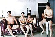 Japanese lingerie model goes wild on tasty cocks Photo 4