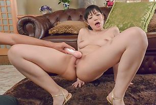 Housewife gets stimulated by two horny males