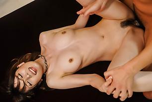 Yui Hatano fucked hard in her hairy Asian pussy