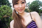 Outdoor Japanese street porn with Reira Aisaki Photo 2