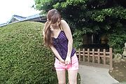 Outdoor Japanese street porn with Reira Aisaki Photo 7