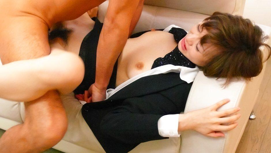 黒のセクシー下着の原明奈~3P生