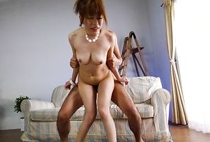 Junna Hara loves cock in her hairy Asian pussy