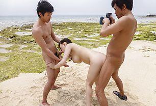 Asian outdoor sex along bustyKyouko Maki