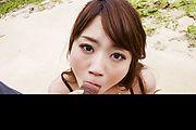 Outdoor Asian blowjob along sexyMayuka Akimoto Photo 7