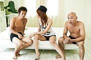 爆乳合沢萌~美マン&アナル連続中出し Photo 1