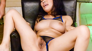 Busty Babe Kyouko Maki Fucked With A Big Vibrator