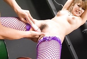 Milf's hairy Asian cunt gets demolished with toys