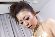 Perfect blowjob and cum on tits for Yuki Asami Photo 4