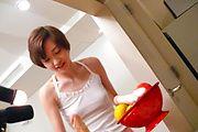 Naughty Akina Hara rides a dildo in her hairy asian vagina Photo 4