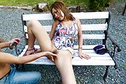 MILF Aika gives a blowjob and has japanese outdoor sex Photo 11