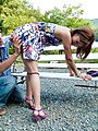 MILF Aika gives a blowjob and has japanese outdoor sex Photo 8