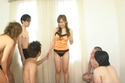 Asian milf sex in group with appealing Yurina Photo 1