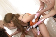 Asian milf sex in group with appealing Yurina Photo 3