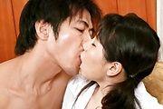 A Threesome Creampie For Emiri Takeuchi In White Stockings Photo 1