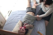 Tied up guy gets two MILF's to work his dick Rika Shibuki Photo 5