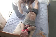 Tied up guy gets two MILF's to work his dick Rika Shibuki Photo 6