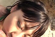 Megumi Haruka gives an asian POV blowjob outdoors Photo 11