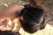 Megumi Haruka gives an asian POV blowjob outdoors Photo 7
