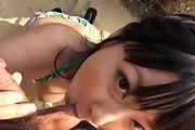 Megumi Haruka gives an asian POV blowjob outdoors Photo 9