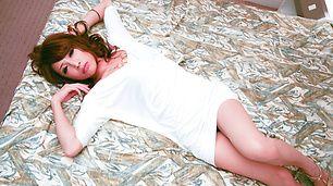 Beautiful Aya Sakuraba in sexy lingerie loves hardcore